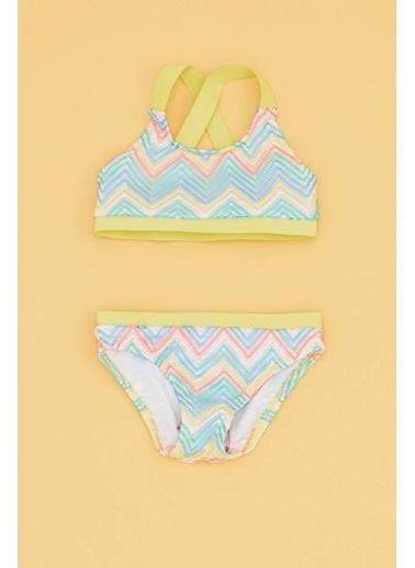 BG Baby Kız Bebek Desenli Bikini 19SS0BG2007 Renkli